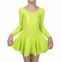 Купальник для танцев и гимнастики Rivage line 6055 блестящий Салатовый