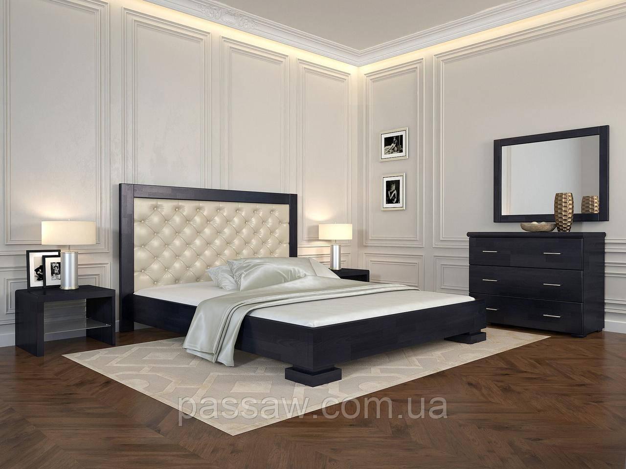 """Кровать деревянная ARBOR DREV  """"Подиум ромбы"""" 1,8 сосна"""