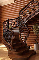 Лестницы из массива дуба под заказ