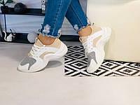 Летние кроссовки белого цвета