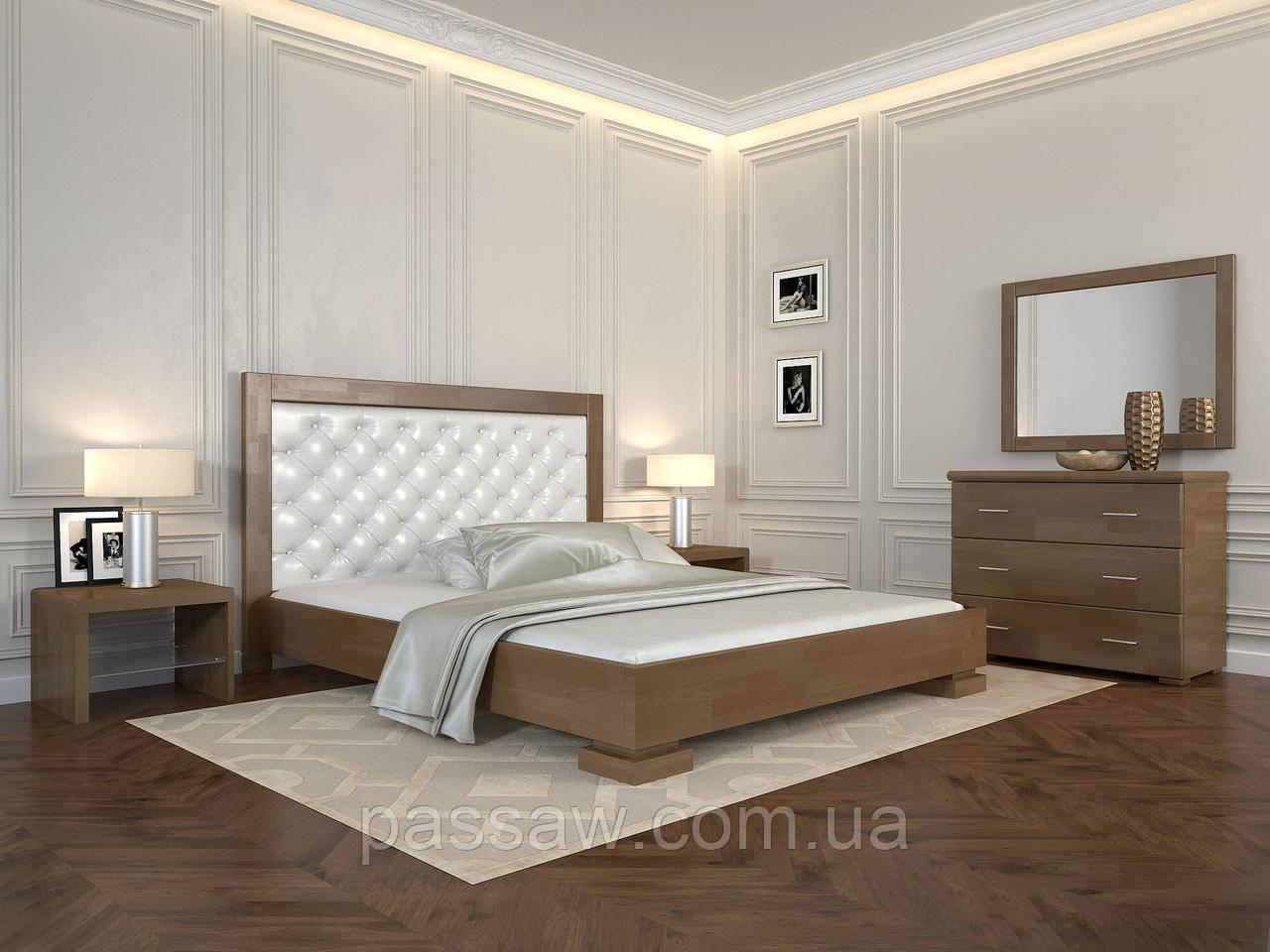 """Кровать деревянная ARBOR DREV  """"Подиум ромбы"""" 1,8 бук"""