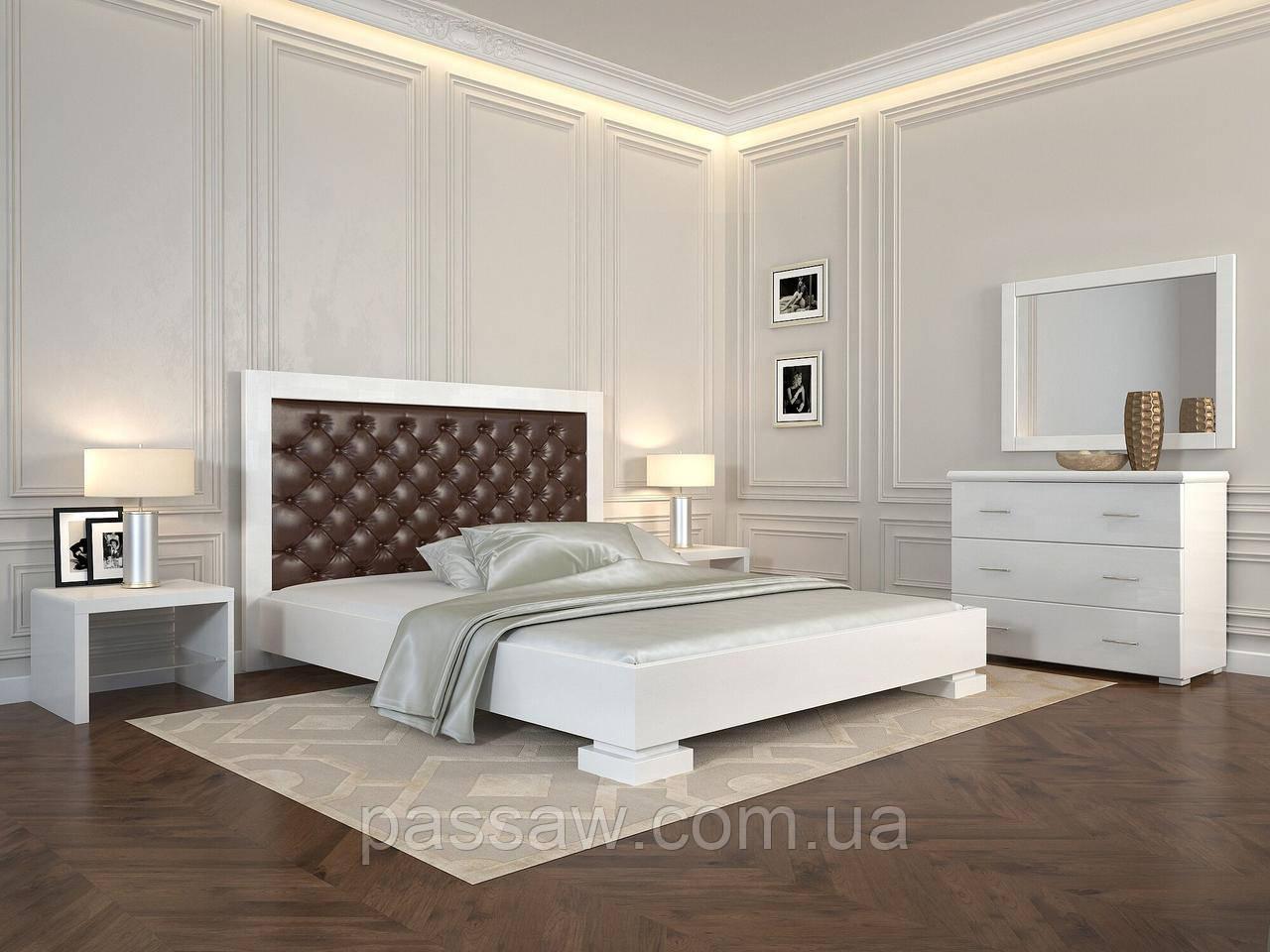 """Кровать деревянная ARBOR DREV  """"Подиум ромбы"""" 1,6 бук"""