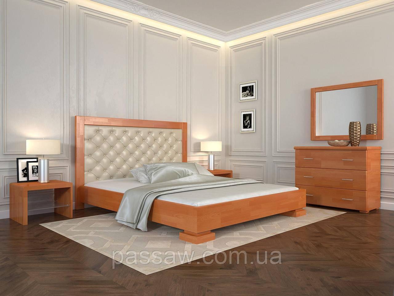 """Кровать деревянная ARBOR DREV  """"Подиум ромбы"""" 1,6 сосна"""