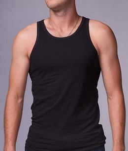 Мужская майка хлопок EZGI Турция размер M-60 (46-48) чёрная