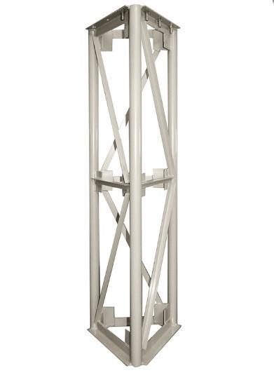 Опорная конструкция треугольная для дымохода PlusTerm (секция 1,5м. под внешний диаметр дымохода 300мм)
