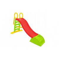 Детская горка  Mochtoys180 см. Красная с зеленым.