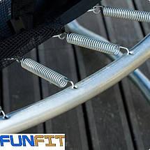 Большой батут 374 см FunFit Фан Фит + сетка + лестница, фото 3