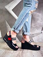 Женские стильные кожаные босоножки , фото 1