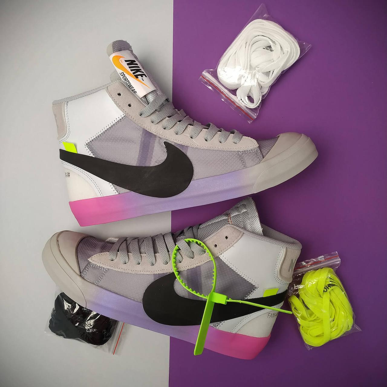 Мужские кроссовки Nike Blazer x Off White