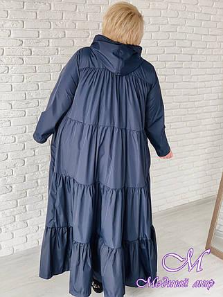 Длинный женский плащ большого размера (р. 42-90) арт. Фантазия, фото 2