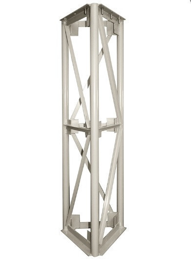 Опорная конструкция треугольная для дымохода PlusTerm (секция 3м. под внешний диаметр дымохода 360мм)