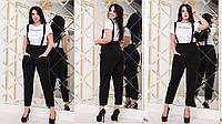 """Женский повседневный костюм больших размеров """" Футболка и комбинезон """"  Dress Code, фото 1"""