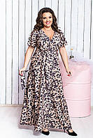 Стильное длинное женское платье 50-56 р ( разные цвета )