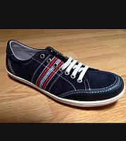 Кросівки чоловічі шкіряні, виготовлені в Іспанії.