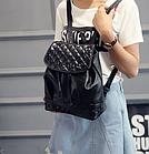 Рюкзак жіночий PU кожзам. з фурнітурою 29 см - 25 див. - 14 див. Чорний, фото 5