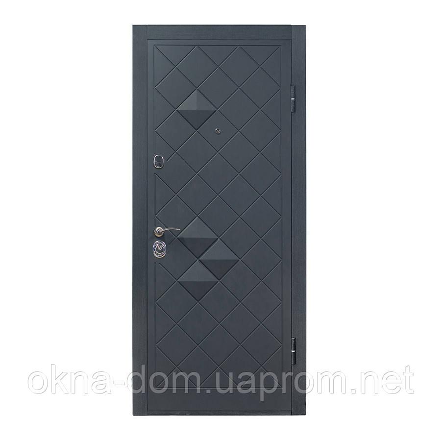 """Входная дверь """"МИНИСТЕРСТВО ДВЕРЕЙ"""" П-3K-112 V Графит декор 3D Vinorit"""