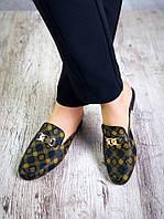 Женские мюли в стиле Louis Vuitton, фото 1