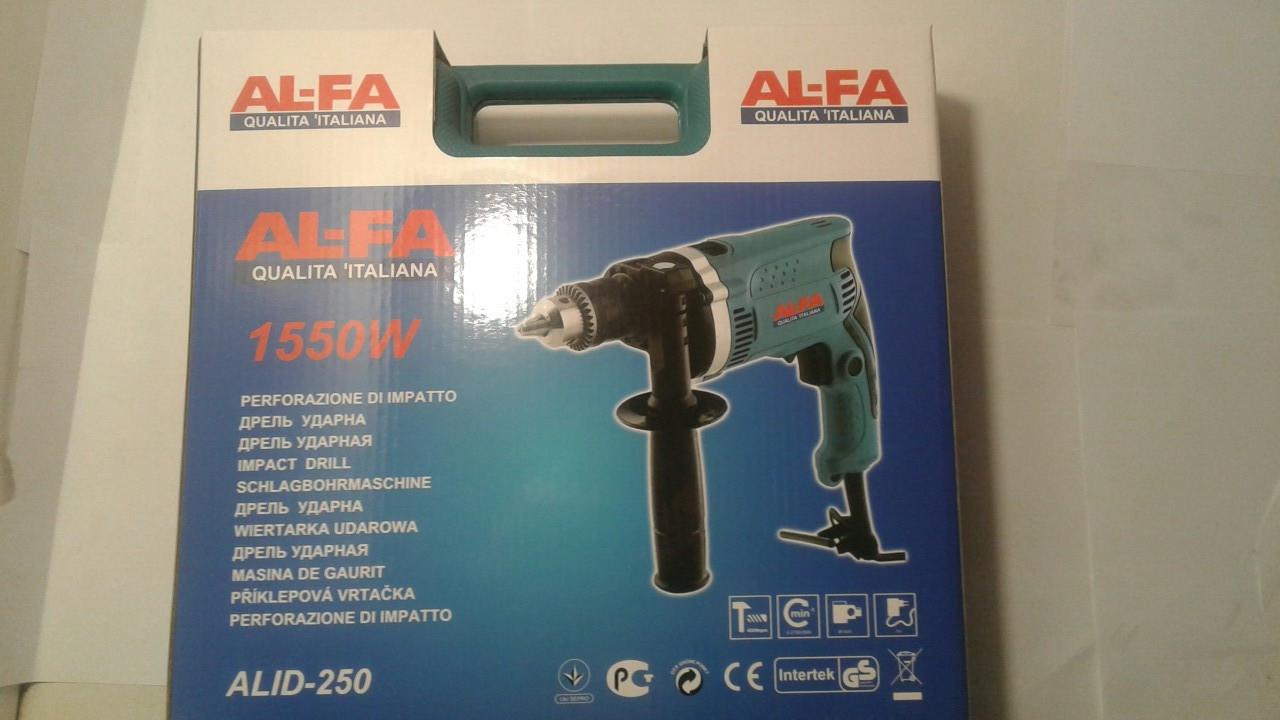 Дрель ударна AL-FA 1550W ALID-250