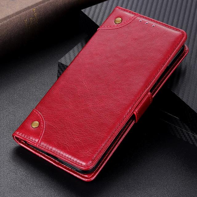 чехол книжка Xiaomi Black Shark 2 retro style красный