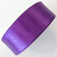 Кусок 0,99 м !!! Стрічка атласна 2,5 см. Фіолетова