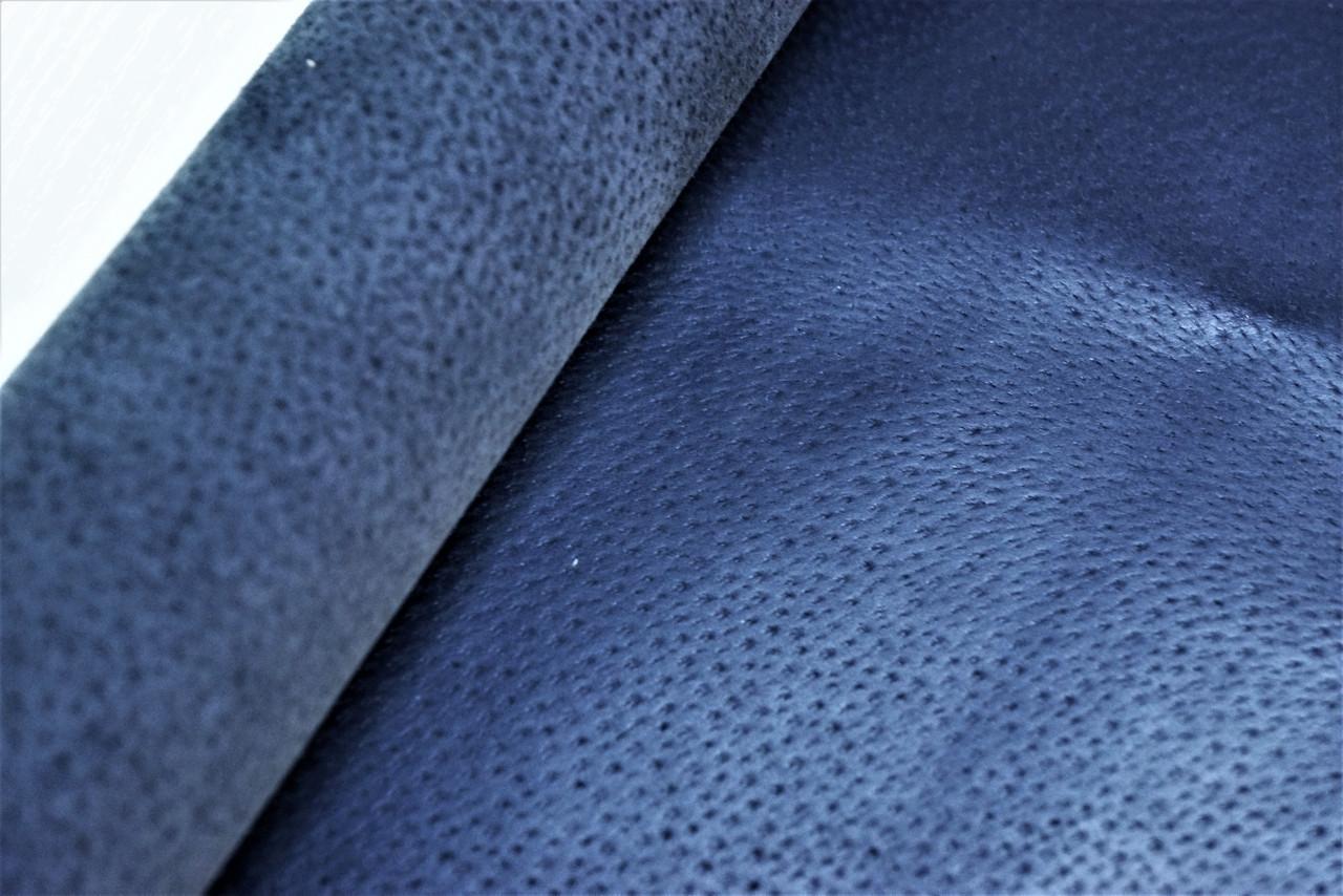 Кожа стелечная (подкладочная) воскованая цвет синяя