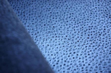 Кожа стелечная (подкладочная) воскованая цвет синяя, фото 2