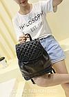 Рюкзак жіночий PU кожзам. з фурнітурою 29 см - 25 див. - 14 див. Чорний, фото 4