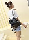 Рюкзак жіночий PU кожзам. з фурнітурою 29 см - 25 див. - 14 див. Чорний, фото 6