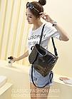 Рюкзак жіночий PU кожзам. з фурнітурою 29 см - 25 див. - 14 див. Чорний, фото 7