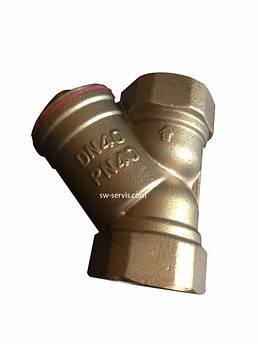 Фильтр грубой очистки 1 латунный усиленный forte
