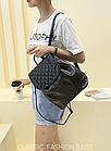 Рюкзак жіночий PU кожзам. з фурнітурою 29 см - 25 див. - 14 див. Чорний, фото 8