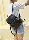 Рюкзак жіночий PU кожзам. з фурнітурою 29 см - 25 див. - 14 див. Чорний, фото 9