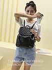 Рюкзак жіночий PU кожзам. з фурнітурою 29 см - 25 див. - 14 див. Чорний, фото 10