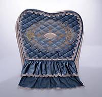 Велюровый комплект спинка и  сидушка на стул фирмы Blumarine
