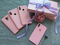 Чехол накладка Silicone case для  Samsung A8 Plus