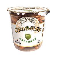 Фруктовая соломка КИСЛИНКА Spektrumix Яблочная, 50 г (стакан), чипсы соломка из яблок без кожуры