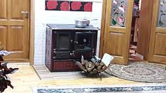 Печь отопительно-варочная с духовкой Nordica Rosa Maiolica