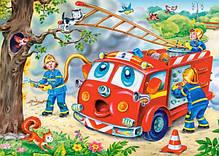 Детские пазлы 4 в 1 Веселый транспорт, фото 2