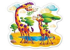 Детские пазлы для малышей 4 в 1 Африканские животные., фото 3