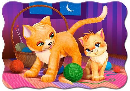 Контурные пазлы Кошка и котёнок на 30 элементов, фото 2