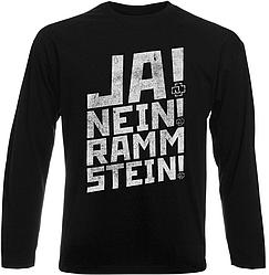 Футболка с длинным рукавом Rammstein - Ja! Nein! Rammstein! (чёрная)
