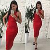 Облегающее трикотажное платье длины миди, фото 3
