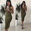 Облягаюче трикотажне плаття довжини міді, фото 5