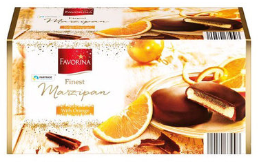 Шоколадные конфеты с марципаном FAVORINA With Orange 300 г