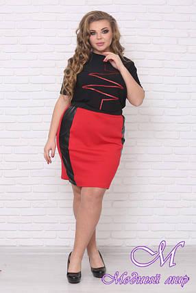 Женская стильная блуза большого размера (р. 48-50) арт. Импульс, фото 2