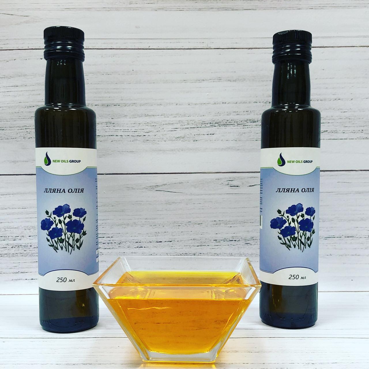 Льняное масло в стеклянной бутылке 250 мл