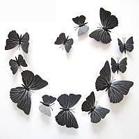 3д бабочки для декора 12 штук МАГНИТ+ЛИПУЧКА, фото 1
