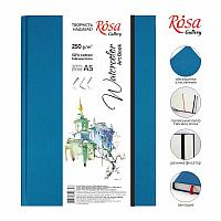 Блокнот для иллюстраций и акварели A5, 250г/м2, 32листа, бумага белая, Unica (Fabriano), ROSA Gallery