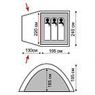 Палатка Tramp Bell 3 v2 TRT-080. Палатка туристическая 3 месная. палатка туристическая, фото 2