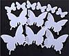 Эксклюзивные 3D бабочки для декора белые
